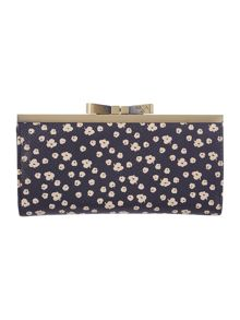 Keisy navy large clasp purse