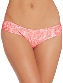 Feather Paisley ruched side bikini brief