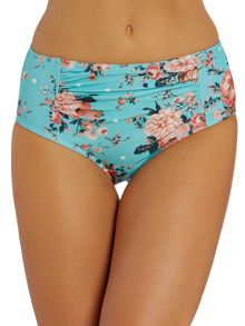 Floral Spot high waist bikini brief