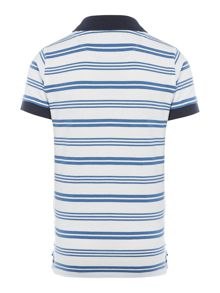 Boy`s short sleeved striped contrast polo