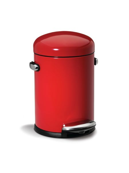 Simplehuman Retro 4.5L Pedal Bin in Red