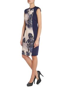 DRS SL FLORAL PANEL BODYCON