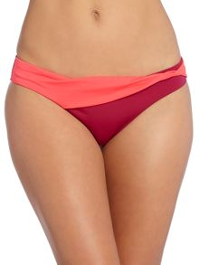 Colour block bikini brief