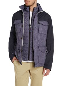 Field jacket with detachable gilet