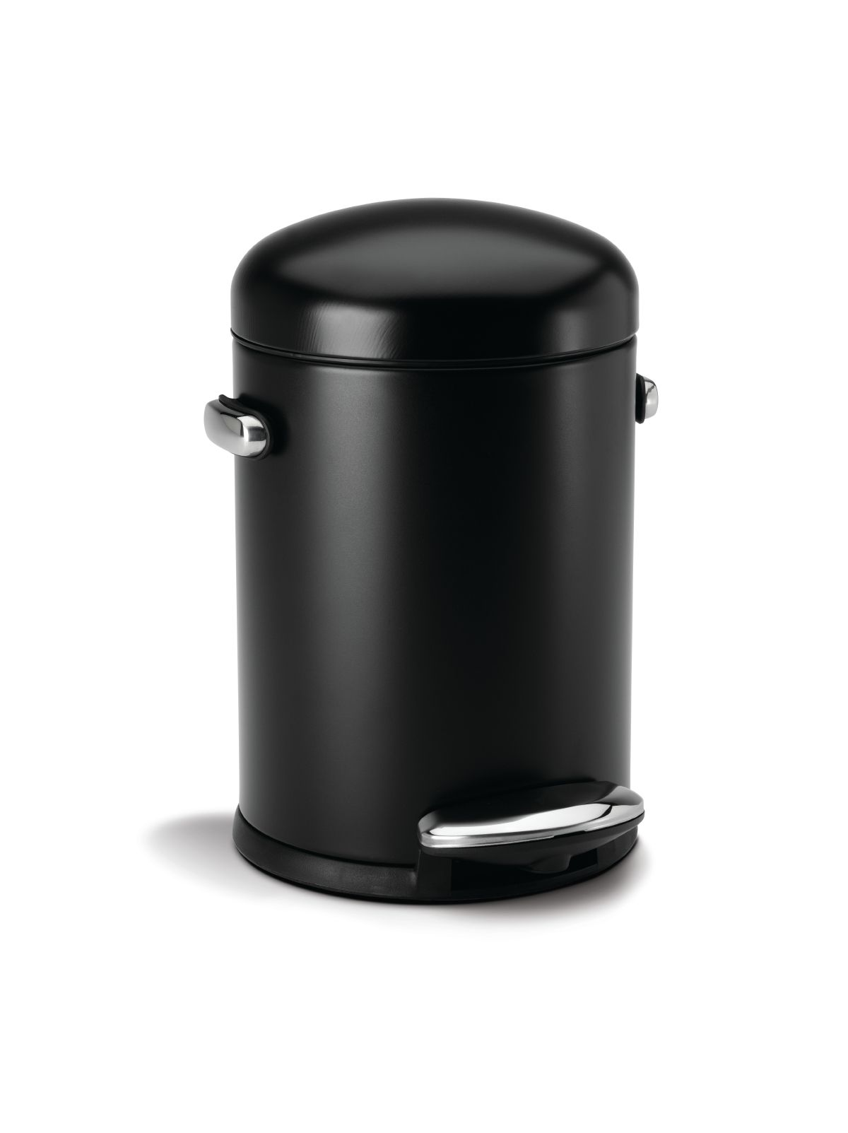 Simplehuman Mini Round Retro Step 4.5L Bin Black