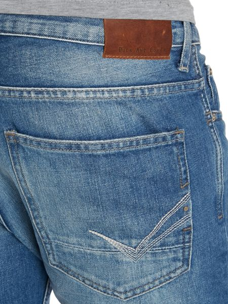 Duck and Cover Light Wash Mid Rise Jeans