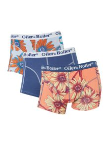 3 pack flowervine print and classic trunk
