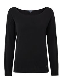 Armani Jeans Long sleeved lightweight lurex sleeve knit