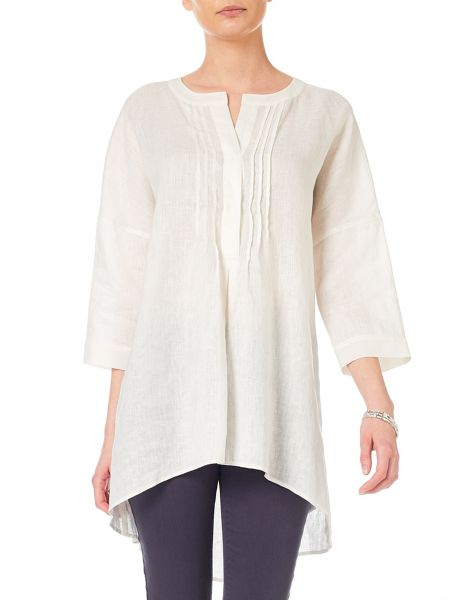 Phase Eight Lamorna oversized linen shirt
