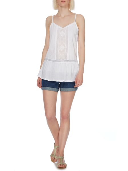 Therapy Embroidered lace camisole