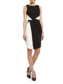 Sleeveless mono panel bodycon dress