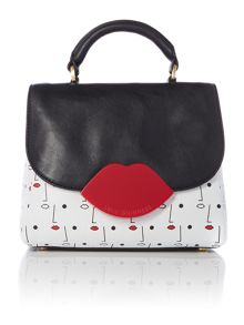 Two face multi-coloured small satchel bag