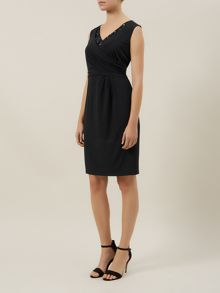 Kaliko Black Wrap Dress