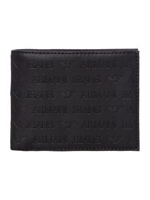 Embossed all over logo coin wallet