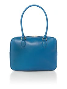 Abstract lips blue large shoulder bag