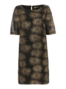 Biba Foil printed easy shift dress