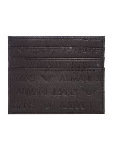 Embossed all over logo card holder