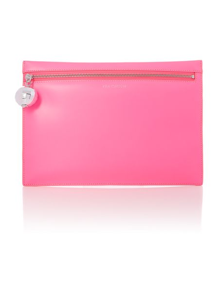 Lulu Guinness Naomi pink large disco ball clutch