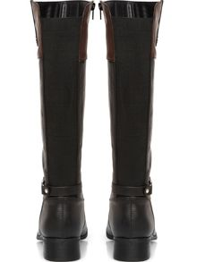 Black and brown contrast riding boots