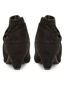 Black suedette shoe boots