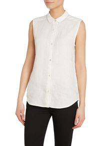 Sleeveless linen Shirt
