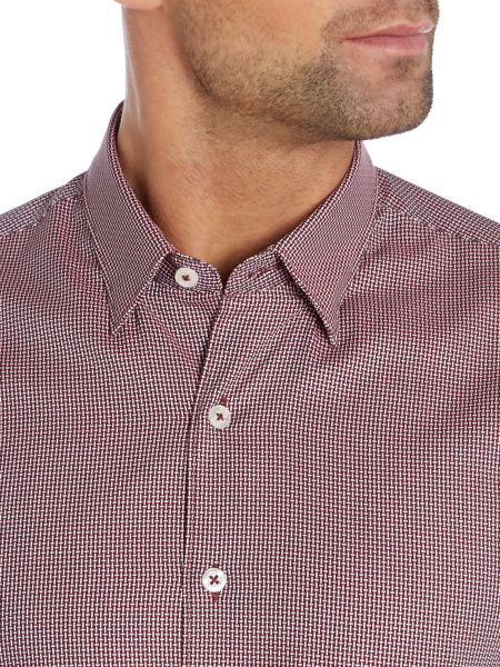 Peter Werth Smoove long sleeved cross hatch shirt
