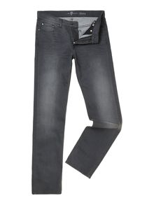 Luxe performance dark grey jeans