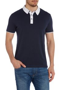 Magnus contrast placket polo
