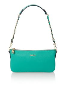Saffiano green small cross body bag