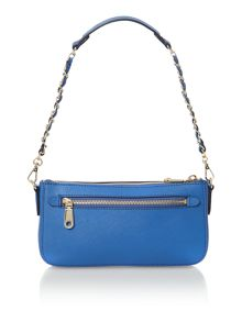 Saffiano blue small cross body bag