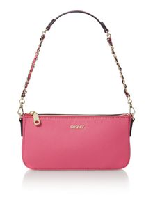 Saffiano pink small cross body bag