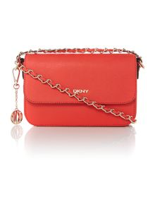 Saffiano orange small cross body bag