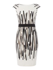 Hannah stripe ponte dress