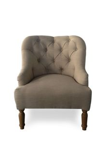 Shabby Chic Everly beige linen occasional chair