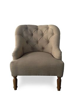 Everly beige linen occasional chair