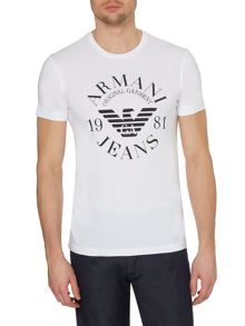 Armani Jeans Exclusive Slim Fit Logo Print T Shirt