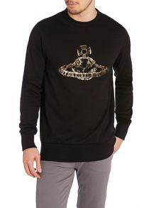 Orb safety pin logo sweatshirt
