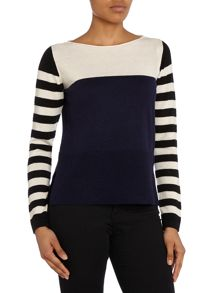 Hoss Intropia Longsleeve striped knit jumper