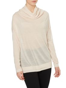 Hoss Intropia Long sleeve cowl neck jumper