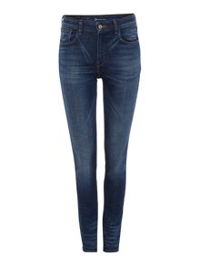 High rise skinny jeans in reservoir