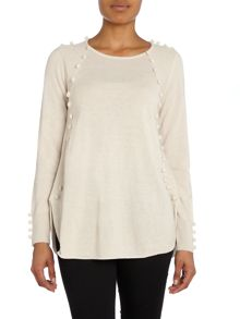 Hoss Intropia KNIT LS SIDE PANEL JUMPER