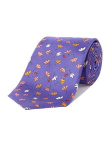 New & Lingwood Lattice Floral Print Tie