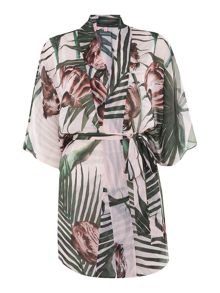 Palm floral veebee cover up