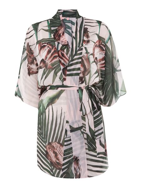 Ted Baker Palm floral veebee cover up
