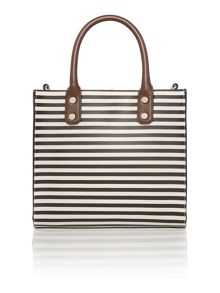 Black and white small tote bag