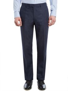 Fabens Flat Front Linen Trousers