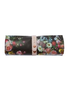 Oil blossom multi-coloured travel jewellery roll