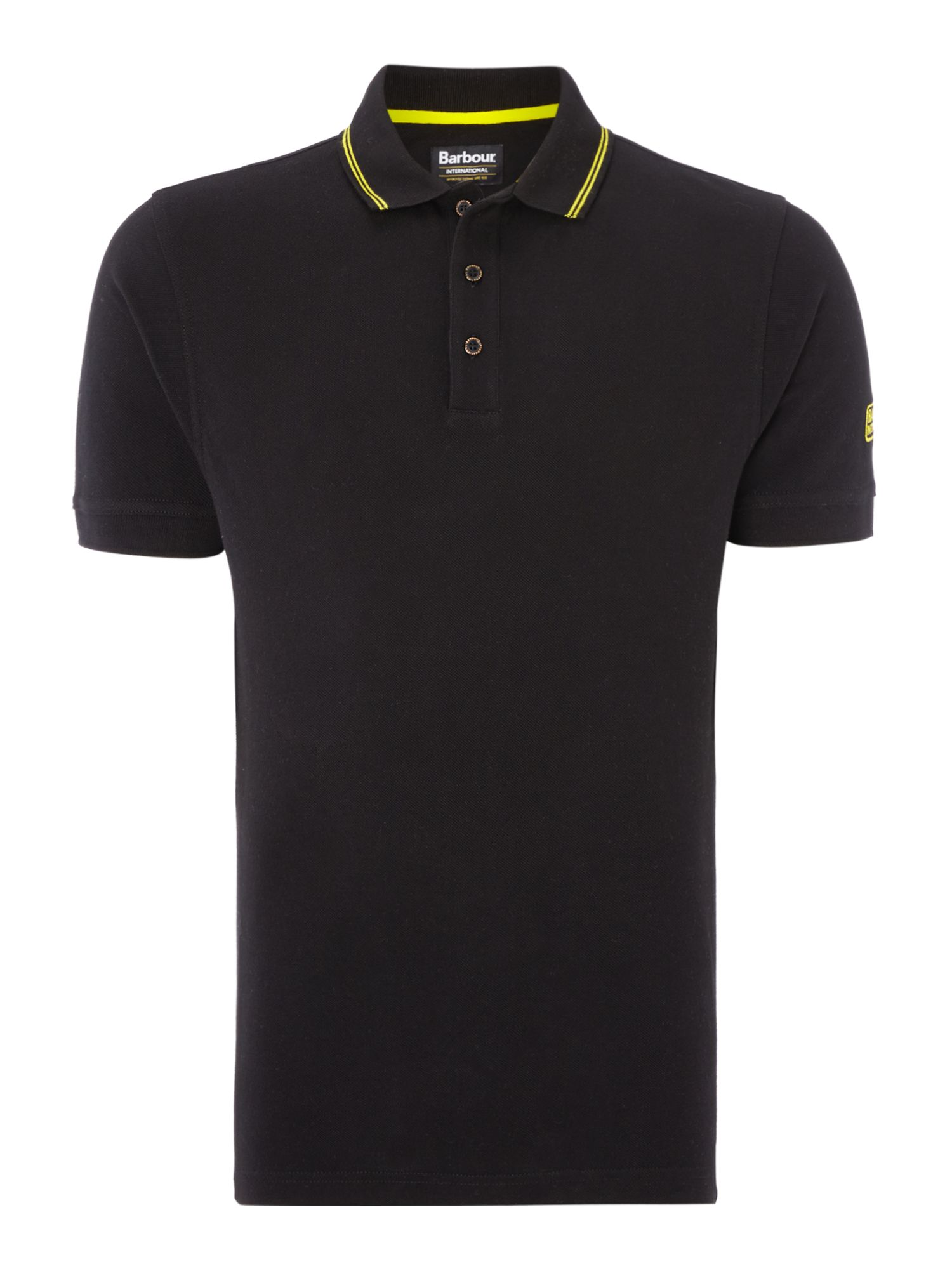 Men's Barbour International Polo Shirt, Black