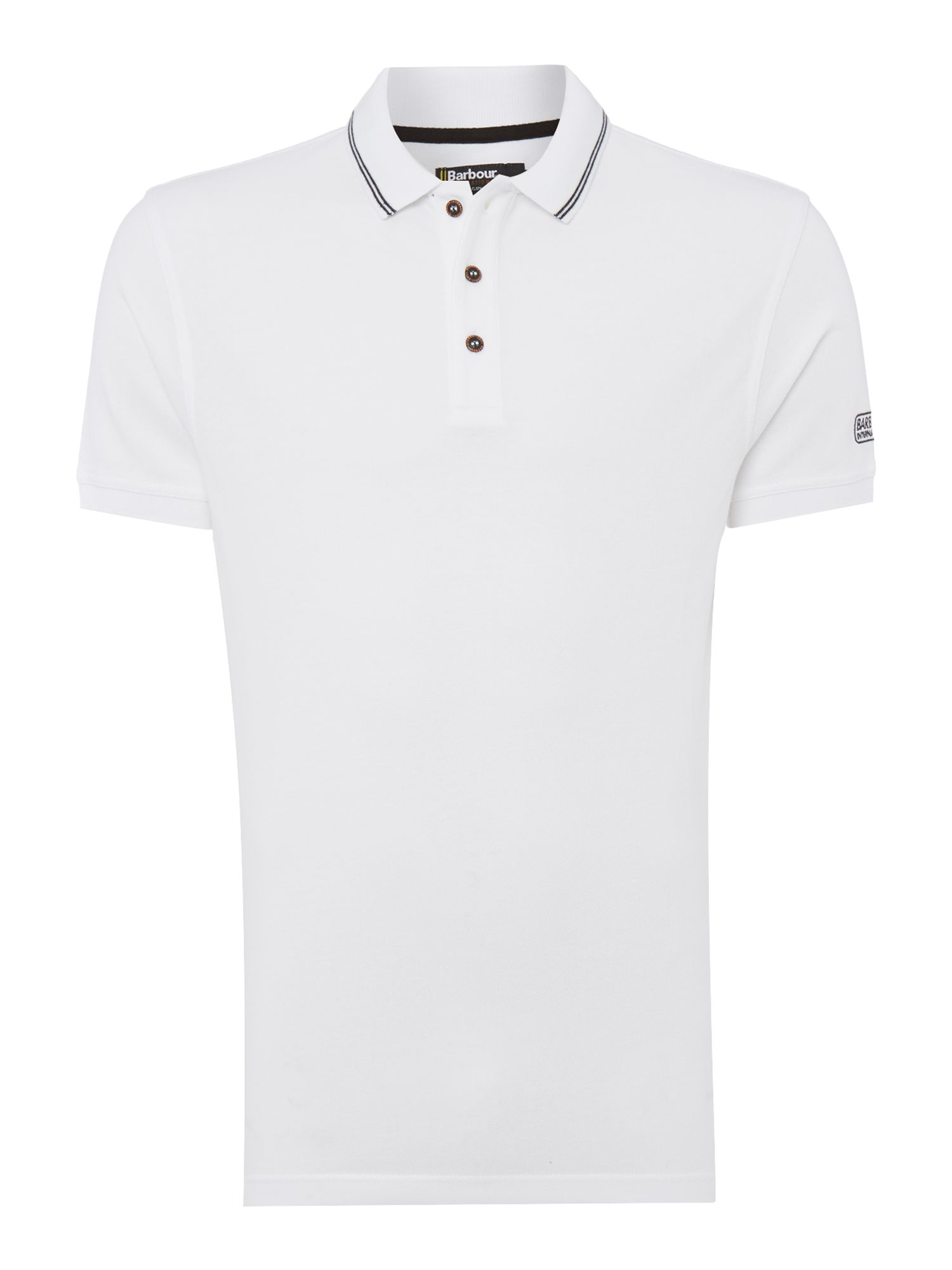 Men's Barbour International Polo Shirt, Black/White