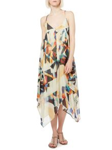 Cut Out Multi Print Sundress